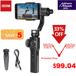 Zhiyun Smooth 4 Q2 3-Axis Handheld Smartphone Gimbal Stabilizer for iPhone 11 Pro Max XS XR X 8P 8 Samsung S9 S8 & Action Camera