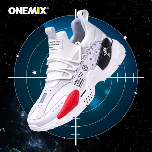 Image 5 - ONEMIX احذية الجري للرجال زيادة 4 سنتيمتر Ulzza Harajuku أحذية رياضية توسيد الارتفاع منصة تنفس شبكة رياضة المشي