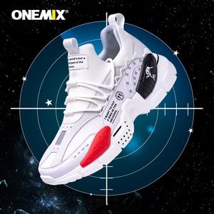 Image 5 - ONEMIX Running Shoes for Men Increasing 4CM Ulzza Harajuku Sneakers Cushioning Height Platform Breathable Mesh Sports Walking