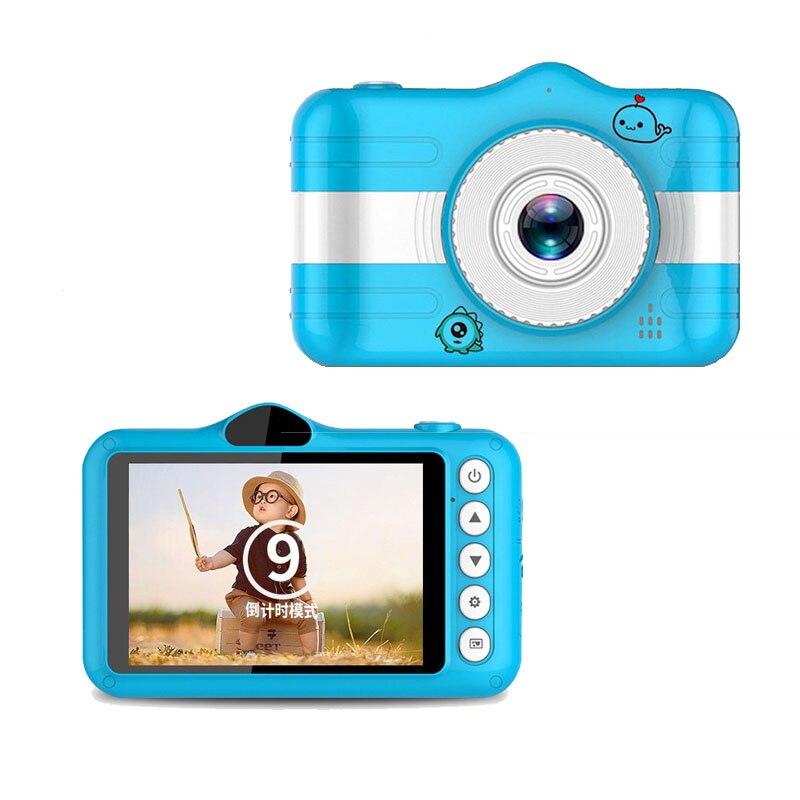 "JOZUZE Child Camera Digital Camera 3.5"" Cute Cartoon Camera Toys Children Birthday Gift 12MP 1080P Photo Video Camera For Kids"