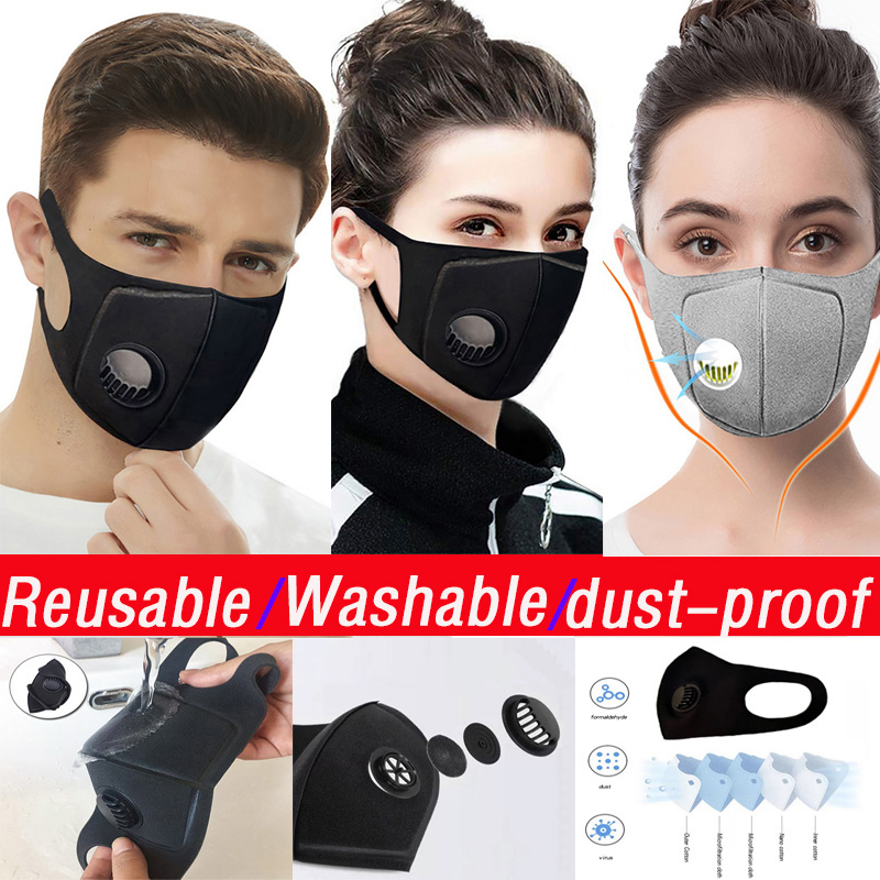 Reusable!10Pcs Mask Protective Sponge Mask Dustproof PM2.5 Anti Pollution Mouth Mask Washable Reusable Muffle Respirator