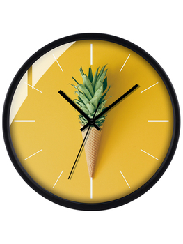 Lemon Tree Originality Concise Color Round Clocks And Watches Wall Clock A Living Room Bedroom Personality Household Northern