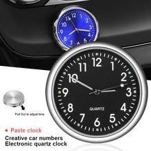 Vehemo stopu Aluminium 4 kolor samochodów zegar świetlny Mini motocykl drążek metalowy i staje w sytuacji sam na sam wskaźnik dekoracji akcesoria samochodowe