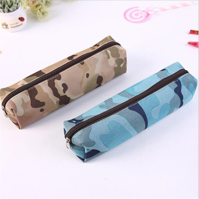 1Pcs Women Men Cosmetic Makeup Bags Ladies Travel Toiletry Makeup Brushes Organiser Bag Student Camouflage Prints Pencil Case