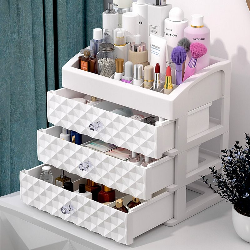 Makeup Organizer Storage Box Desktop Ring Earring Jewelry Drawer Container Organizer Box Beauty Nail Oil Lipstick Cosmetic Box