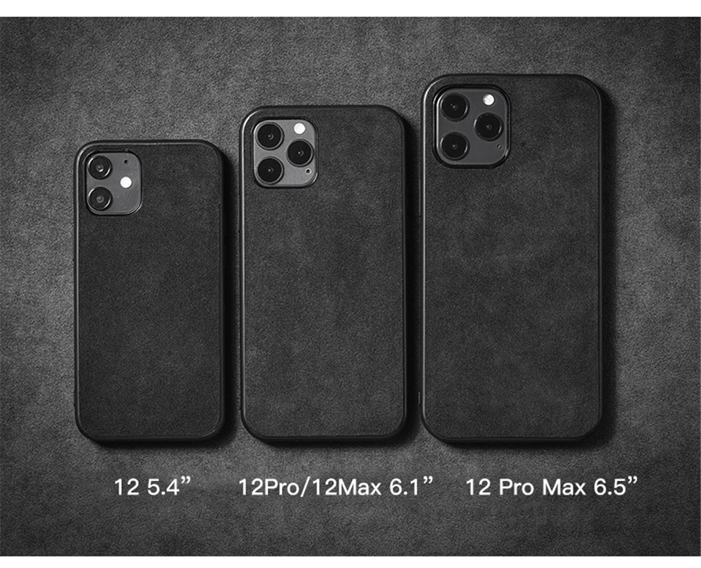 Luxury Business Soft Suede Fur Leather Plush Protective Case for iPhone 12  Pro Max