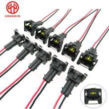10 pces à prova devágua ev1 injector de combustível plugues conector para bosch440cc 650cc 850cc 1000cc injector de combustível com pino e fio