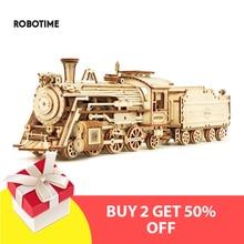 Robotime 2020 New 6 Kinds DIY Laser Cutting 3D Mechanical Model Wooden Model Building Kits Assembly Toy Gift for Children Adult