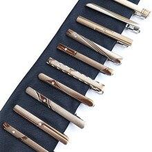 New men's dress silver tie clips exquisite fashion simple bu