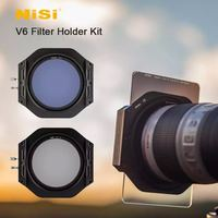 NiSi V6 Camera Filter Holder Kit 100mm System with Enhanced Landscape CPL and 67 72 77 82mm Adapter Ring Lens Cap for Camera