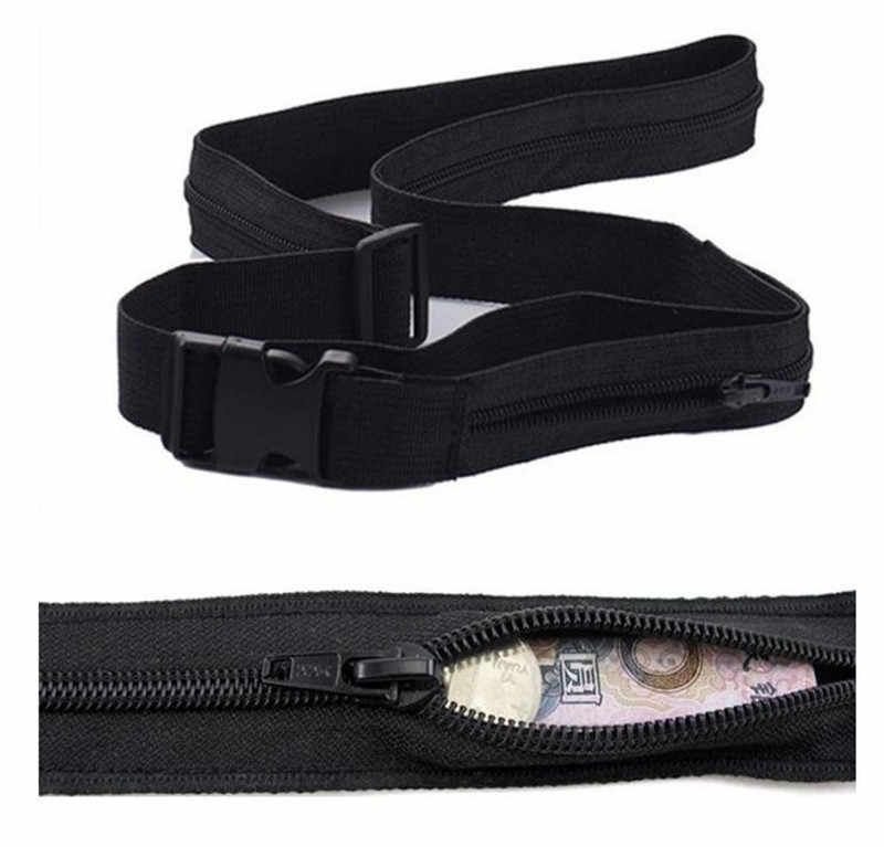 Neue Entwickelt Reise Anti Theft Brieftasche Gürtel mit Geheimnis Fach Versteckt Stash Geld Gürtel Wasserdicht Klebstoff Gürtel Tasche 2020