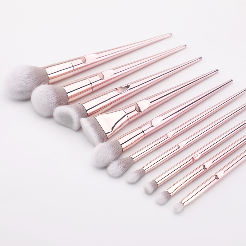 New 10Pcs Eye Makeup Brushes Set Eye Shadow Eyebrow Sculpting Power Brushes Facial Makeup Cosmetic Brush Tools