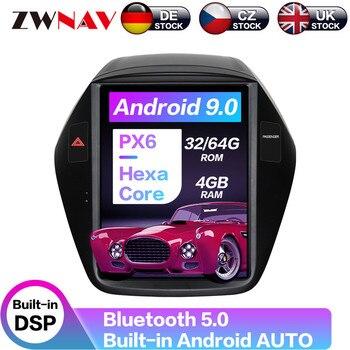 Android 8,1 64 + 4G Tesla con DSP reproductor Multimedia estéreo de coche Carplay para Hyundai IX35 2009-2016 navegación GPS de Radio automática