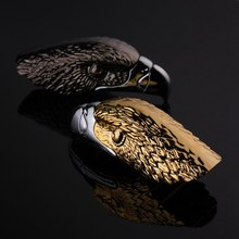 Creative Personality New exotic Inflatable Lighter Open Flame Gas Lighter Eagle Head Metal Cigar Lighter creative flame dragon pattern lighter antique brass