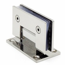 Aço inoxidável porta de vidro sem moldura dobradiça 90 graus de banheiro braçadeira espelho luz do banheiro dobrável clipe de vidro pacote correio