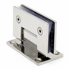 Bisagra de puerta de vidrio sin marco de acero inoxidable, abrazadera de 90 grados para luz de espejo de baño, abrazadera de cristal plegable, envío por correo