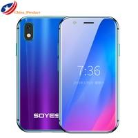 2019 Mini Smartphone SOYES XS 3 ''3 GB + 32GB 2GB + Rosto Recognion 16B Android 1580mAh 4G Wifi Bolso Backup Celulares PK 7S Melrose