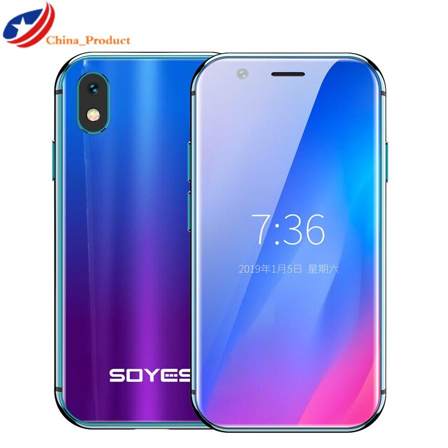 2019 Mini Smartphone SOYES XS 3 ''3 GB + 32GB 2GB + 16B Android visage reconnaissance 1580mAh 4G Wifi sauvegarde téléphones portables de poche PK 7S Melrose