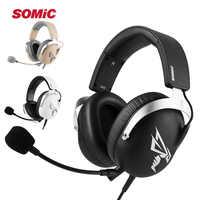 SOMIC G805 Gaming Headset 50mm USB 7.1 Virtuelle Surround Gamer Kopfhörer Headset Stereo Sound Kopfhörer mit Mic für LOL PC PS4