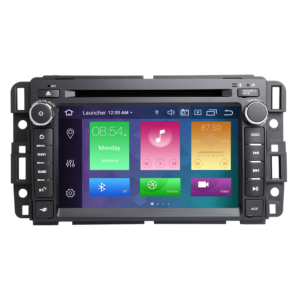 4GB DSP 1Din GPS Radio Android 9.0 voiture lecteur DVD pour GMC Sierra Yukon Denali Acadia Savana Chevrolet Express Traverse EquinoxCD - 2