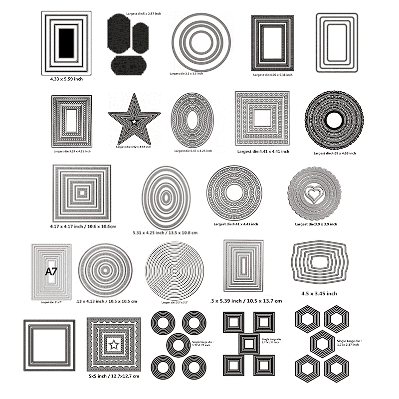 Basic Framewor Metal Cutting Dies Stencil For Scrapbooking Paper Card Crafts New 2020 Dies Cutter Decorative Embossing