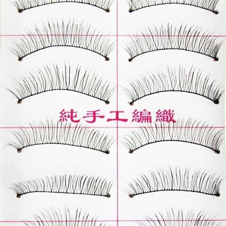 10 זוגות\סט של טבעי עבה ארוך ריסים מזויפים איפור משופע