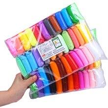 Quente 36 cores super luz slimes crianças ar seco plasticina modelagem argila artesanal educacional 5d brinquedo para as crianças presente