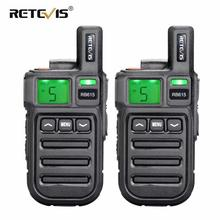 2pcs Retevis RB615/RB15 Mini PMR Walkie Talkie PMR446 PMR 446 Radio VOX Handsfree Two Way Radio with Vibration Wireless Cloning