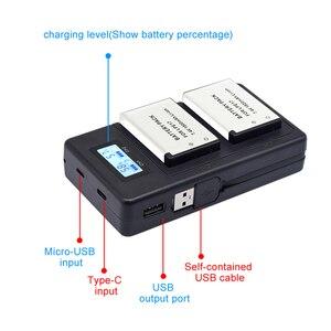 Image 2 - PALO LP E17 LP E17 LPE17 LCD USB Sạc Đôi Cho Canon EOS 200D M3 M6 750D 760D T6i T6s 800D 8000D Kiss X8i Máy Ảnh