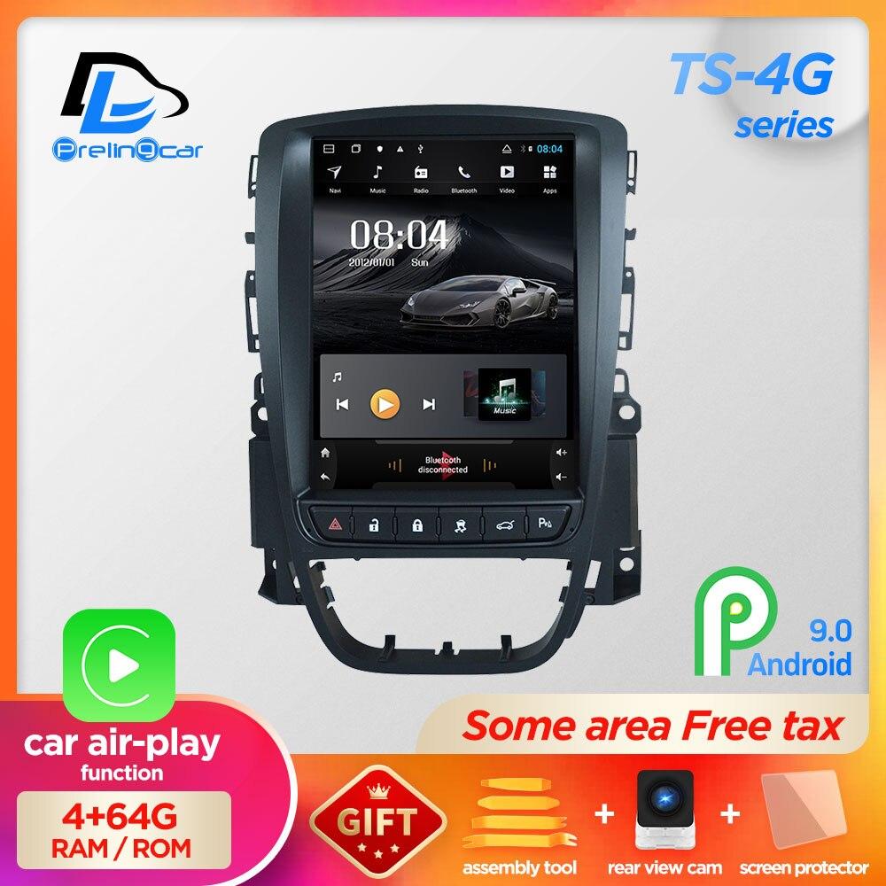 4G RAM вертикальный экран android 9,0 Система Автомобильный gps Мультимедиа Видео Радио плеер в тире для opel ASTRA J car navigaton стерео