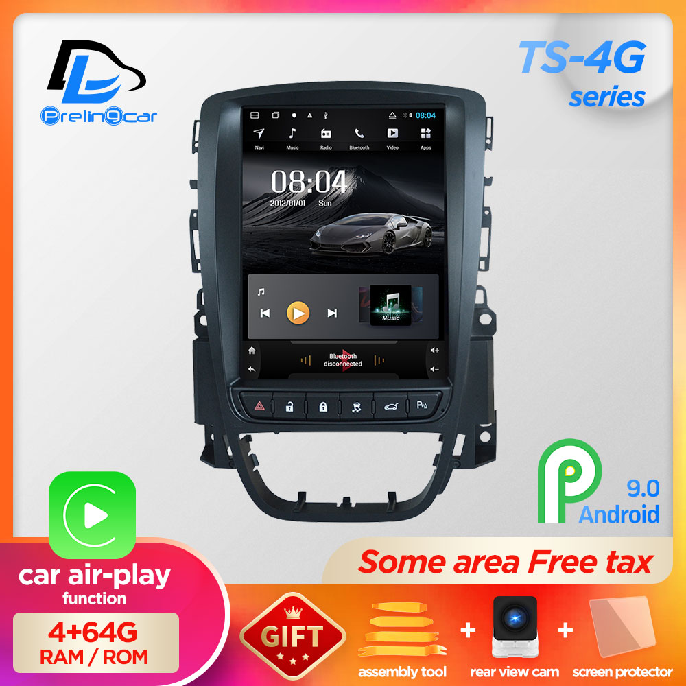 4g ram tela vertical android 9.0 sistema gps do carro multimídia jogador de rádio vídeo no traço para opel astra j navigaton carro estéreo