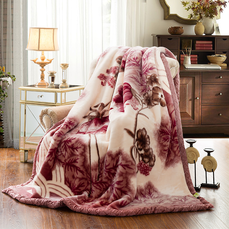 Winter Raschel Blankets Soft Warm Double Layer Faux Fur Mink Throw Thicken Fluffy Fleece Bedspread Weighted Blankets For Beds