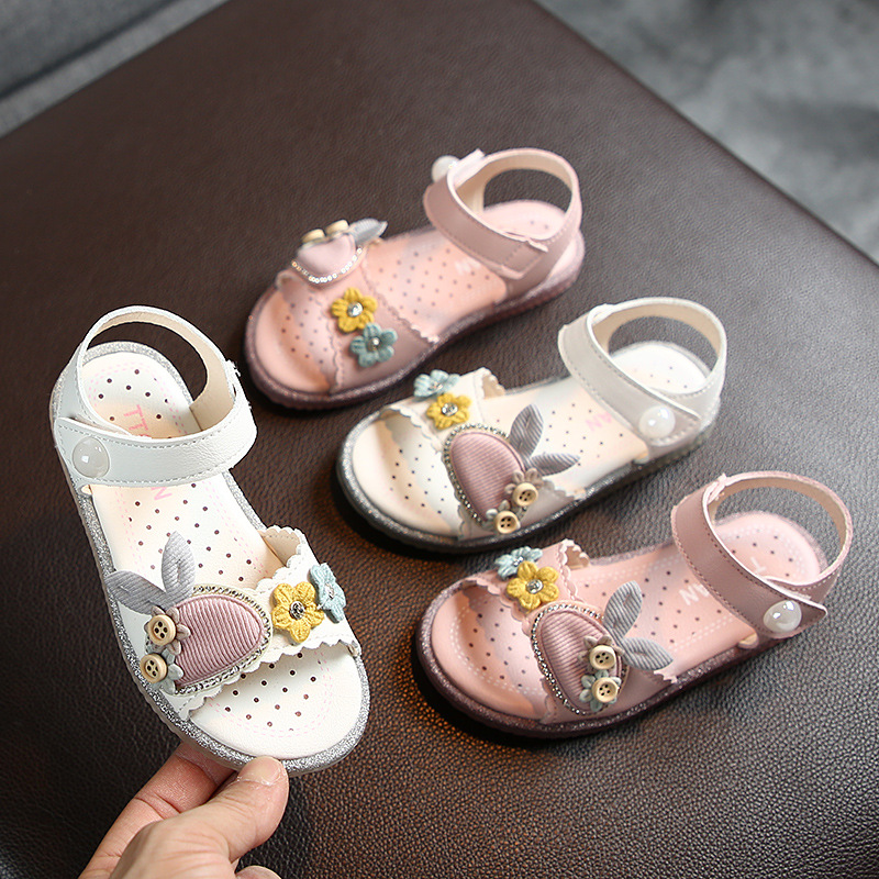 1 2 3 4 5 6 7 8 Years Teens Girls Summer Yellow White Princess Shoes Sandals For Girls School Beach Sandals New 2020