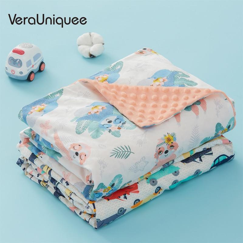 VeraUniquee Muslin Squares Newborns Wrap Bedding Sleepsack Cotton Baby Blankets Newborn Soft Bath Gauze Blanket Muslin-swaddle