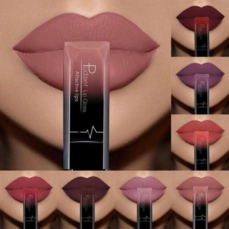 Pudaier матовый блеск для губ, водостойкая матовая губная помада, сексуальная губная помада, жидкий блеск для губ, макияж, Длительное Действие, ...