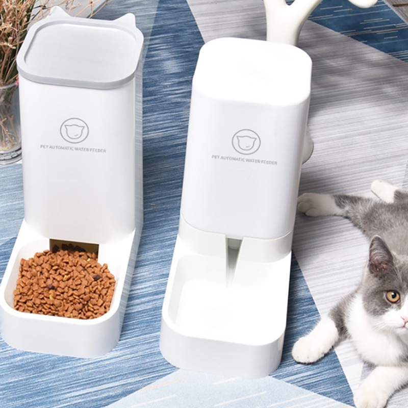 Juego de cuencos de alimentación automáticos para mascotas, alimentadores automáticos para gatos y perros, dispensador de agua con tazón para mascotas, con dosificador, conjunto de 2 unidades|Comida para perros| - AliExpress