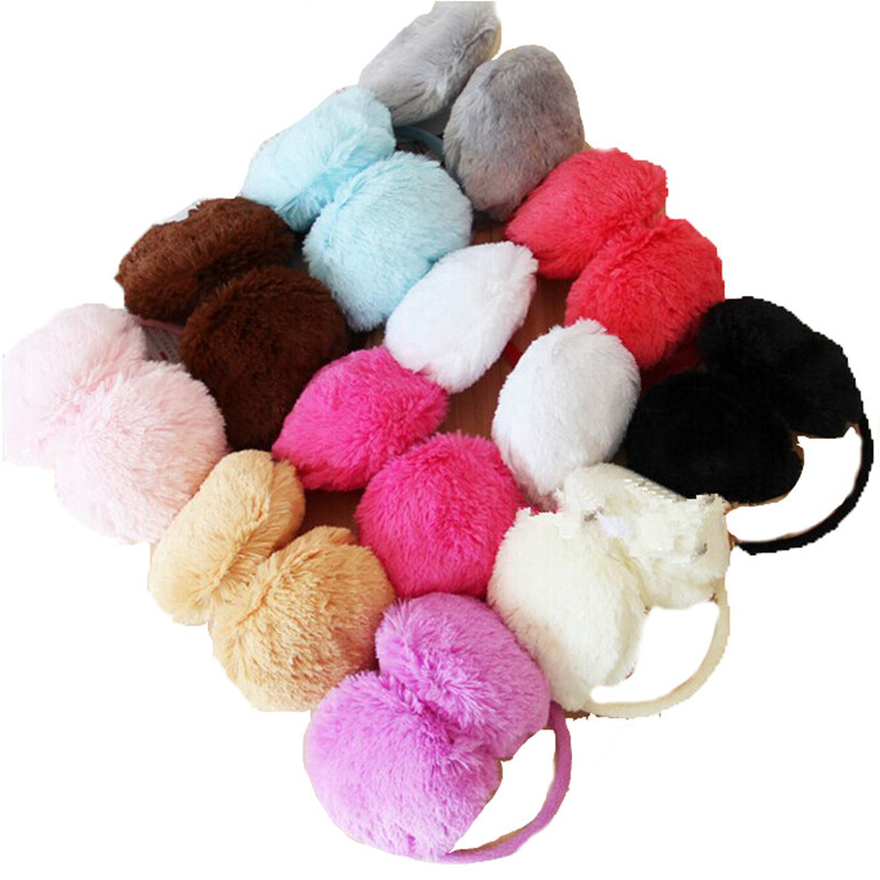 LJCUIYAO Sale Fur Earmuffs Women Men Unisex Girls Winter Warm Earwarmers Ear Muffs Earflap Fur Round Earmuffs Christmas Gifts