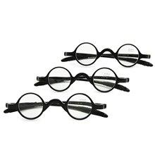 3 쌍 팩 클래식 레트로 라운드 프레임 독서 안경, 교사 음악가 유연한 포켓 리더 + 1.0 ~ + 3.5 소프트 케이스와 함께