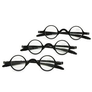 Image 1 - 3 쌍 팩 클래식 레트로 라운드 프레임 독서 안경, 교사 음악가 유연한 포켓 리더 + 1.0 ~ + 3.5 소프트 케이스와 함께