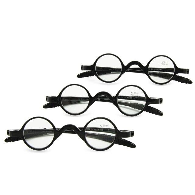 3 çift paketi klasik Retro yuvarlak çerçeve okuma gözlüğü, öğretmen müzisyen esnek cep okuyucu + 1.0 ila + 3.5 ile birlikte gelir yumuşak kılıf