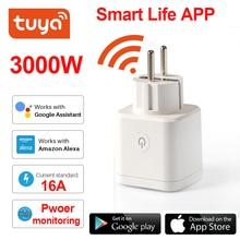 Смарт розетка Tuya с поддержкой Wi Fi, 16 А