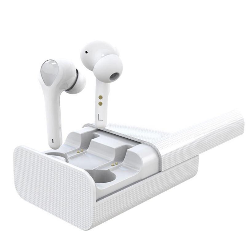Беспроводной стерео наушники черный, белый цвет Bluetooth 5,0 наушники интеллигентая(ый) Шум Снижение Мини Размеры наушники с зарядный чехол HD - Цвет: Белый