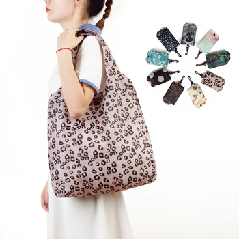 Multi Color Folding Shopping Bag Eco Friendly Ladies Gift Foldable Reusable Tote Bag Portable Travel Shoulder Bag Premium