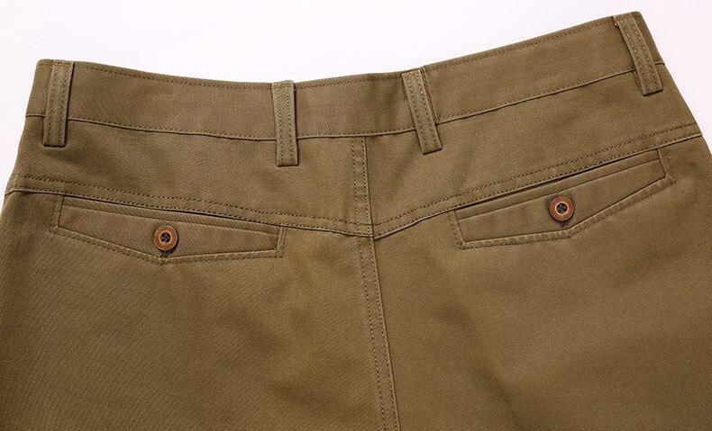 He409a7c9d126404ba5b7311a9295281dK Autumn Winter Men Warm Fleece Classic Black Cotton Pants Mens Business Loose Long Trousers Quality Casual Work Pants Overalls