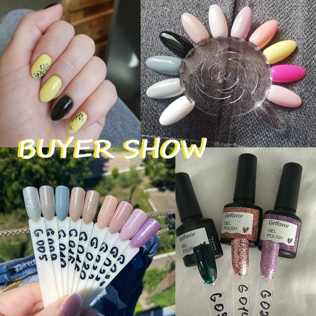 Gelfavor 8ml Gel Nail Polish Glitter For Manicure set nail art Semi platium UV LED Lamp Nail varnishes Base top coat Gel lacquer 2