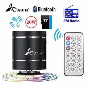 Image 1 - Alto falantes portáteis da vibração de adin bluetooth com rádio de fm remoto mini alto falante de vibração sem fio subwoofer baixo para o telefone