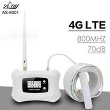 フルインテリジェント70dB利得4 4g lte 800 mhz信号リピータバンド20携帯電話のセルラー信号ブースター4グラムアンプヨーロッパ @