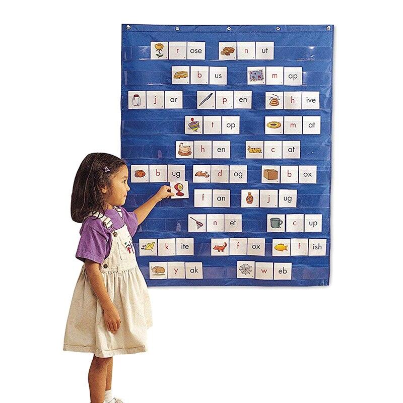 Hot Sale Folding Standard Pocket Chart School Classroom Teaching Office Flip Chart Home Kids Educational Tools 70*110 Cm