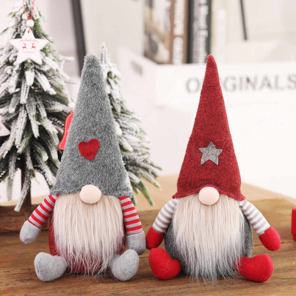 Santa Claus Snowman Elf Dolls Christmas Ornaments Merry Christmas Favor Party Decorations For Home New Year Gift #BL5
