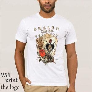 Sullen Dead Man's Hand Card костюмы черный череп тату художник футболка M-3xl Великобритании